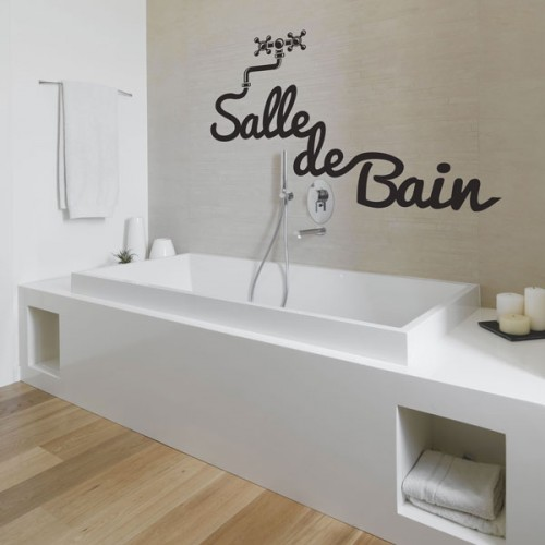 Stickers salle de bain fanastick cr ateur de stickers for Sticker miroir salle de bain